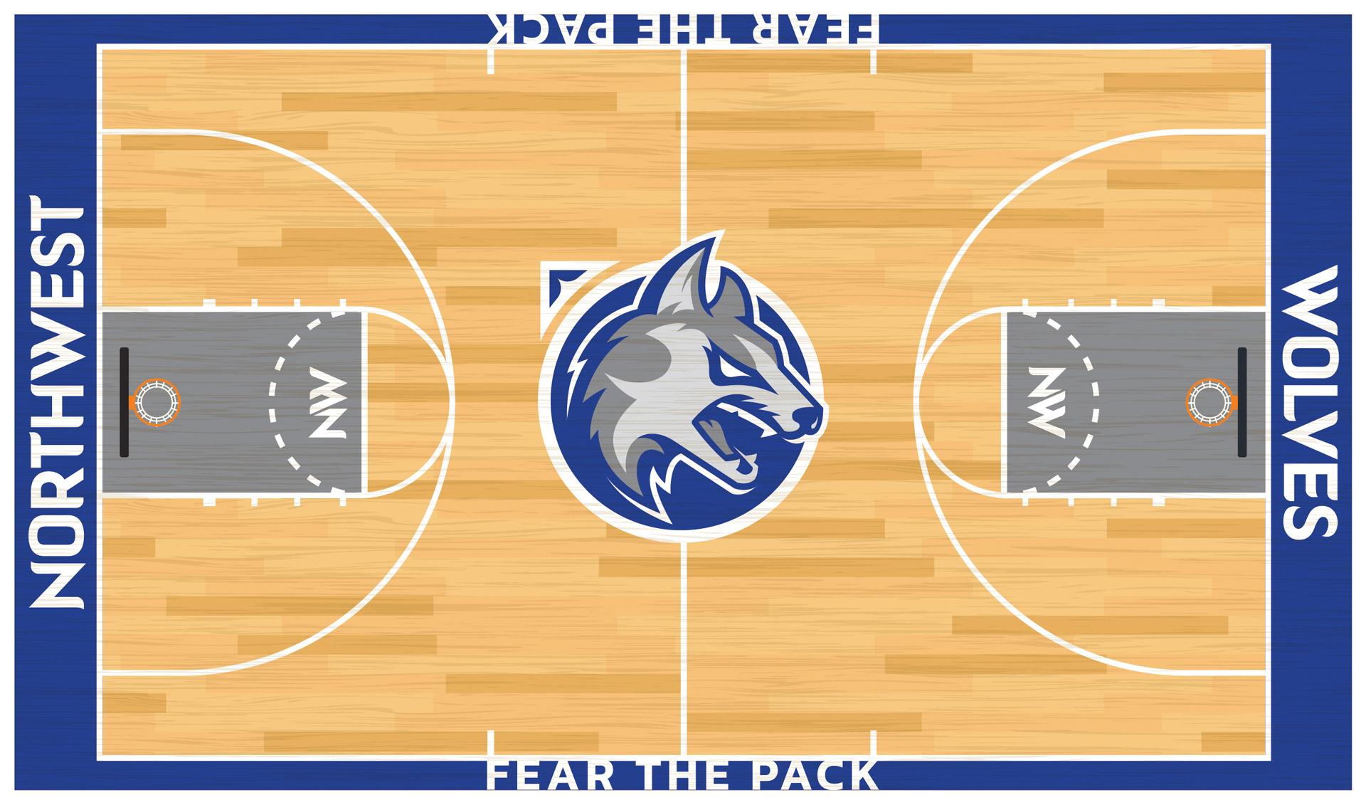 Waukee Northwest Wolves Basketball Court