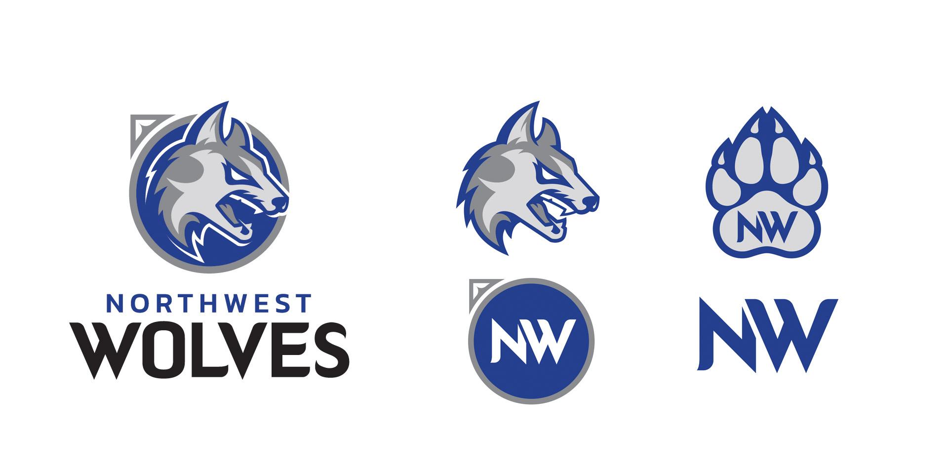 Waukee Northwest Wolves Secondary Logos